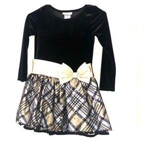 Other - Black and gold EUC girls dress